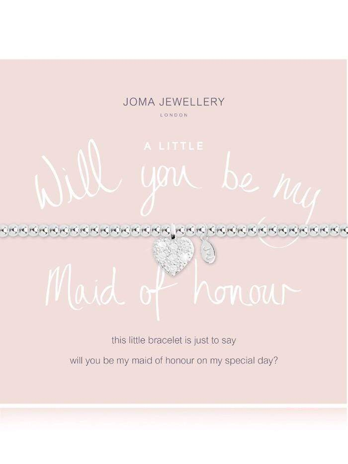 Joma Jewellery Jewellery Joma Bracelet A Little Will You Be My Maid Of Honour Bracelet 2104 izzi-of-baslow