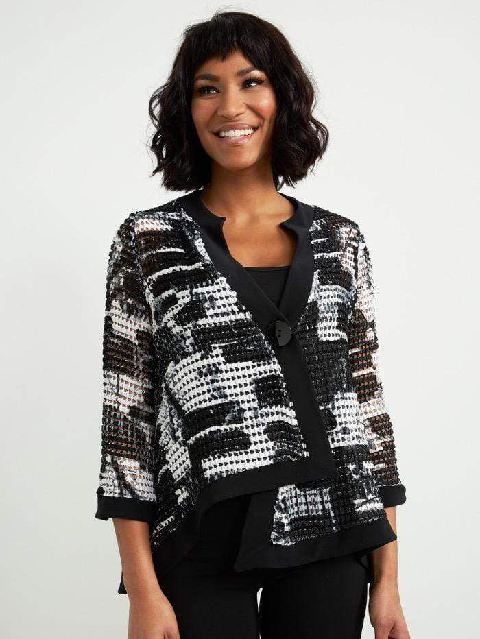 Joseph Ribkoff Coats and Jackets Joseph Ribkoff Black and White Printed Jacket 211360 izzi-of-baslow