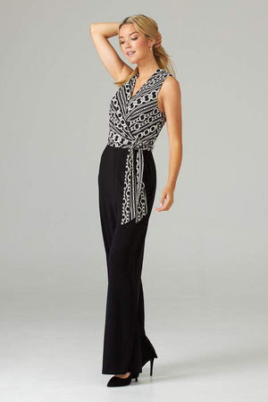 Joseph Ribkoff Dresses Joseph Ribkoff Black and Vanilla Jumpsuit 203172 izzi-of-baslow