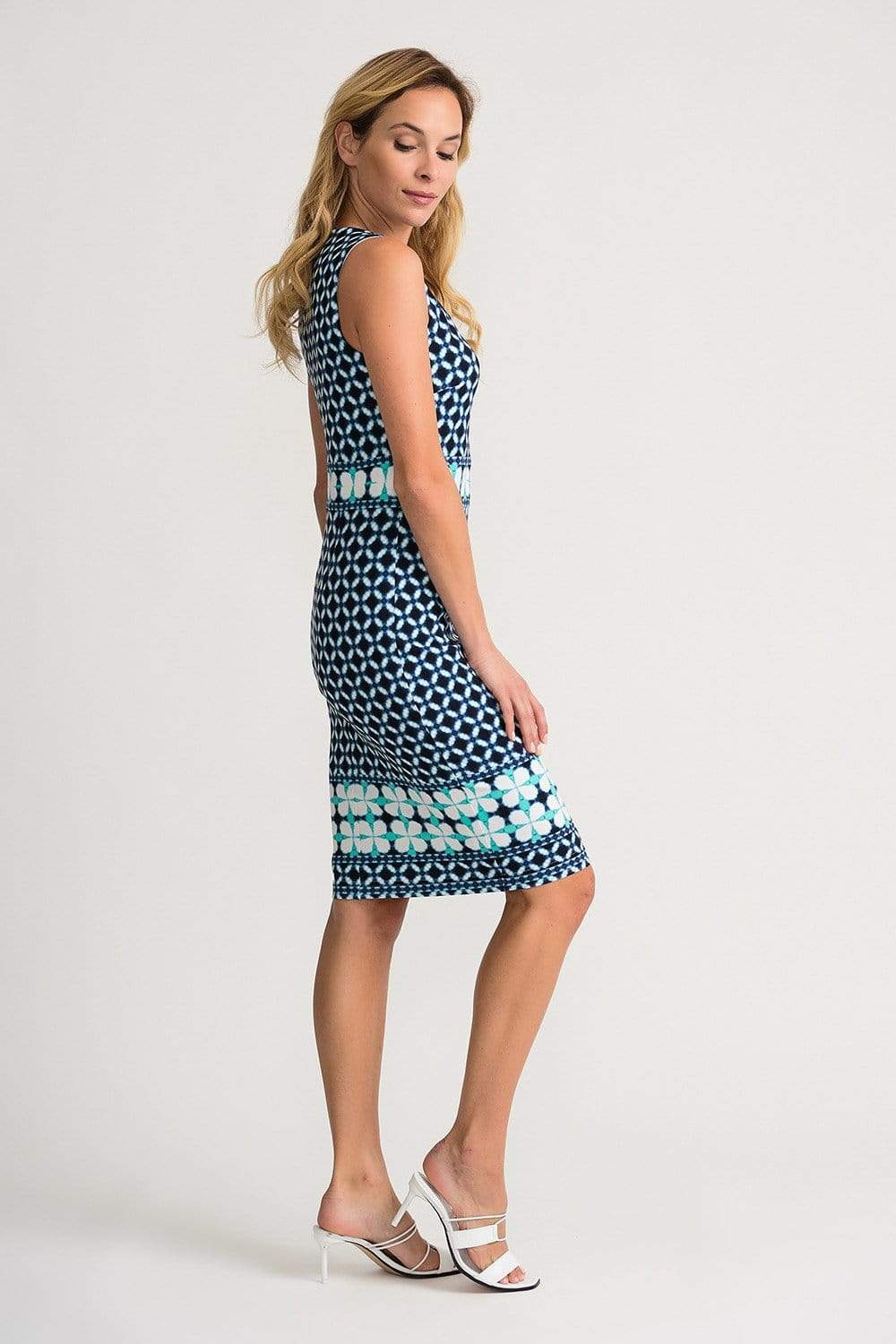 Joseph Ribkoff Dresses Joseph Ribkoff Blue Printed 202213 Dress izzi-of-baslow