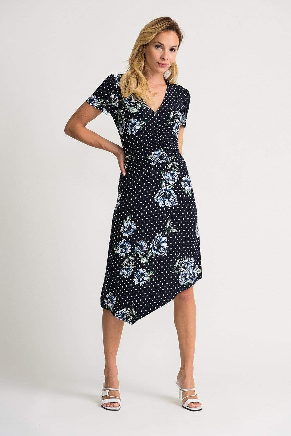 Joseph Ribkoff Dresses Joseph Ribkoff Mid  Navy Printed 202056 Dress izzi-of-baslow