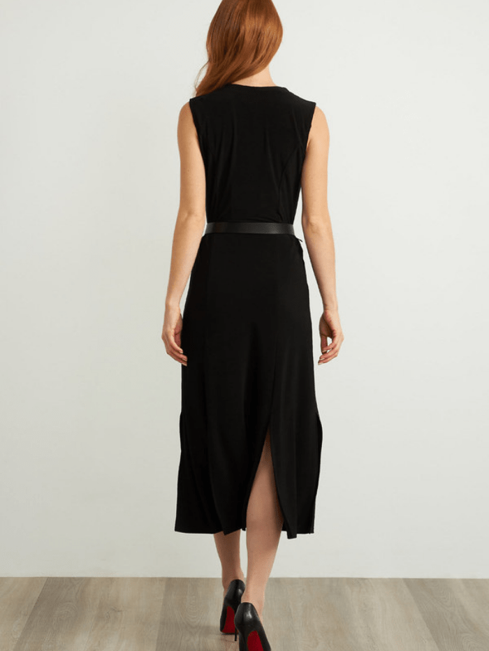 Joseph Ribkoff Dresses Joseph Ribkoff Sleeveless Belted Black Dress 211179 izzi-of-baslow