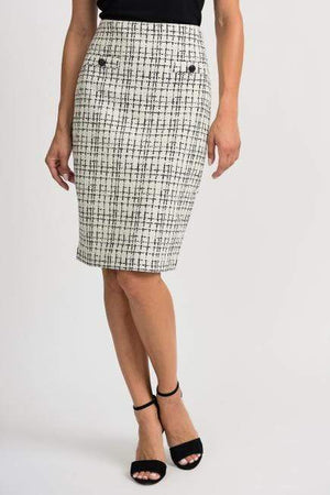 Joseph Ribkoff Skirts Joseph Ribkoff Black and White Skirt 201526 izzi-of-baslow