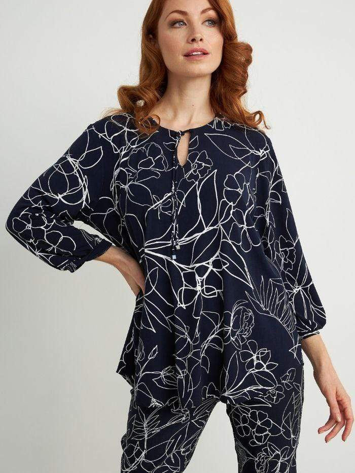 Joseph Ribkoff Tops Joseph Ribkoff Midnight Blue Top 211377 izzi-of-baslow