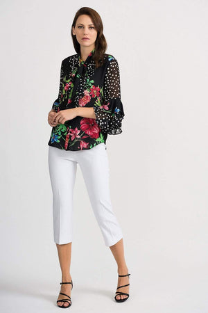 Joseph Ribkoff Tops Joseph Ribkoff Multi Coloured Floral Printed 201323 Blouse izzi-of-baslow