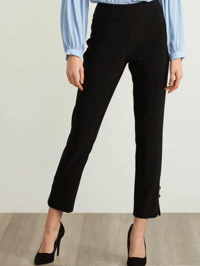 Joseph Ribkoff Trousers 10 Joseph Ribkoff High Rise Black Capri Trousers 211117 (A) izzi-of-baslow