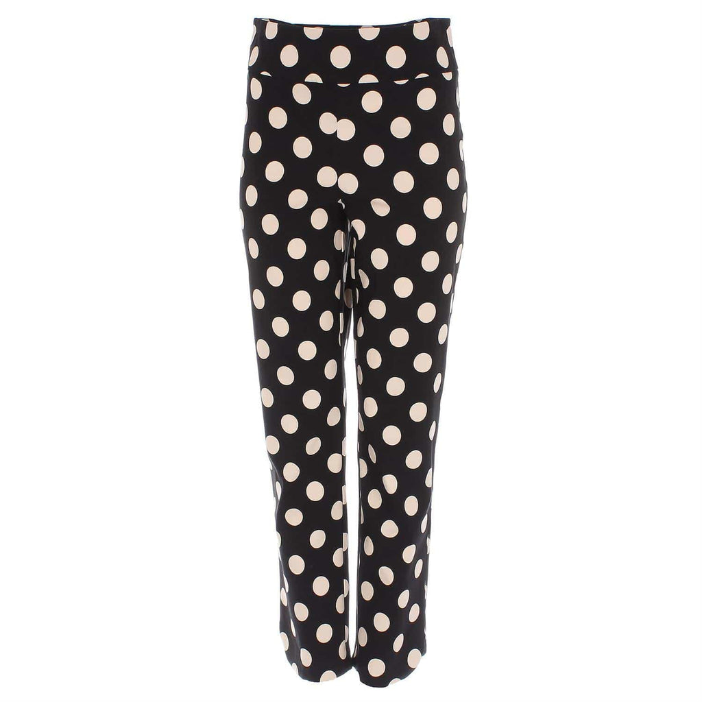 Joseph Ribkoff Trousers Joseph Ribkoff Black and Beige Spotted 202169 Trousers izzi-of-baslow