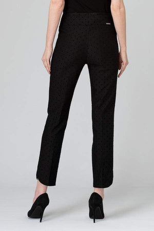 Joseph Ribkoff Trousers Joseph Ribkoff Black Trouser With Velvet Spot 193630 izzi-of-baslow