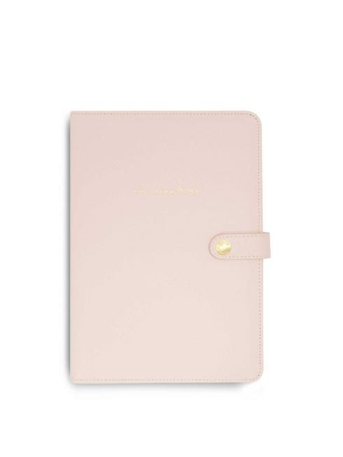 Katie Loxton Accessories One Size Katie Loxton A5 Portfolio Organiser Live Laugh Love Blush Pink KLB712 izzi-of-baslow