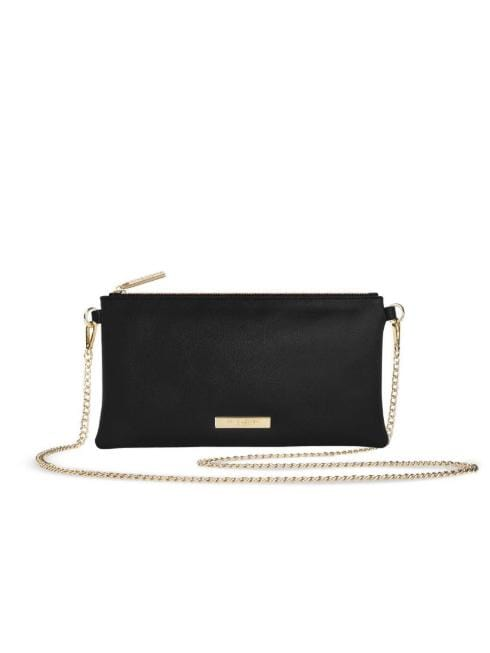 Katie Loxton Accessories One Size Katie Loxton Freya Black Cross Body Bag With Chain Strap KLB660 izzi-of-baslow