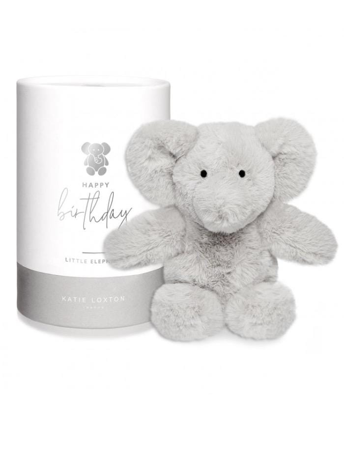 Katie Loxton Accessories One Size Katie Loxton Grey Elephant Baby Toy Happy Birthday BA0037 izzi-of-baslow