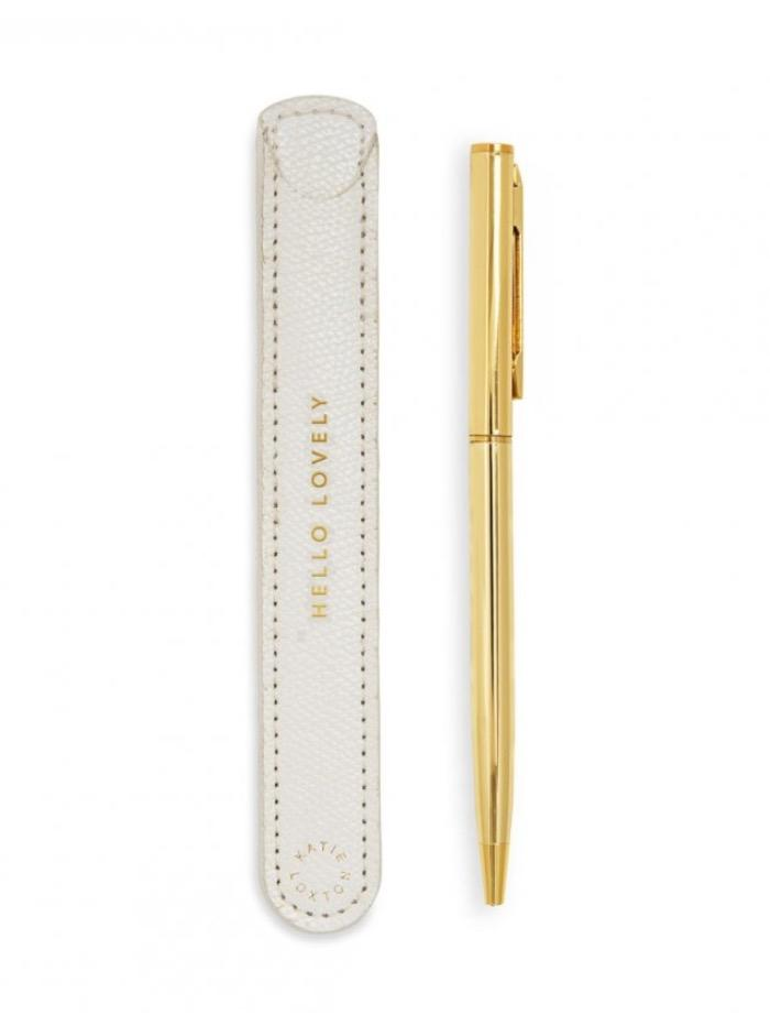 Katie Loxton Accessories One Size Katie Loxton 'Hello Lovely' White Pen Sleeve KLST053 izzi-of-baslow