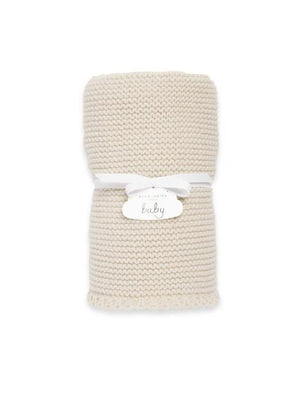 Katie Loxton Accessories One Size Katie Loxton Knitted Baby Blanket Cream BA0040 izzi-of-baslow