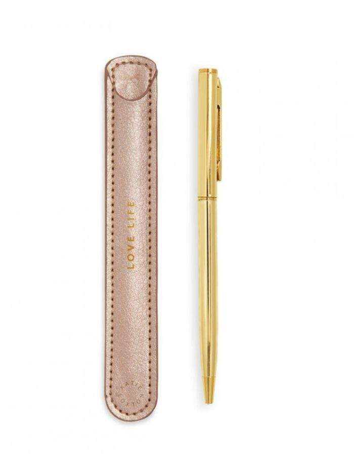 Katie Loxton Accessories One Size Katie Loxton 'Love Life' Pink Pen Sleeve KLST052 izzi-of-baslow