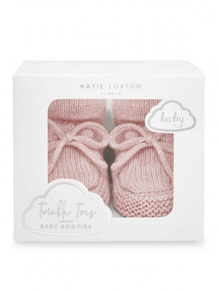 Katie Loxton Accessories One Size Katie Loxton Pink Knitted Baby Booties BA0075 izzi-of-baslow