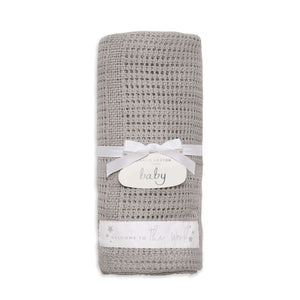 Katie Loxton Accessories One Size Katie Loxton Welcome To The World Cotton Baby Blanket Grey BA0055 izzi-of-baslow