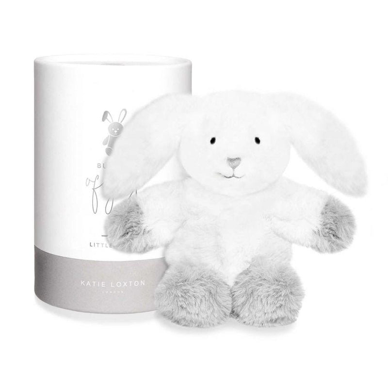 Katie Loxton Accessories One Size Katie Loxton White/Grey Bunny Baby Toy BA0035 izzi-of-baslow