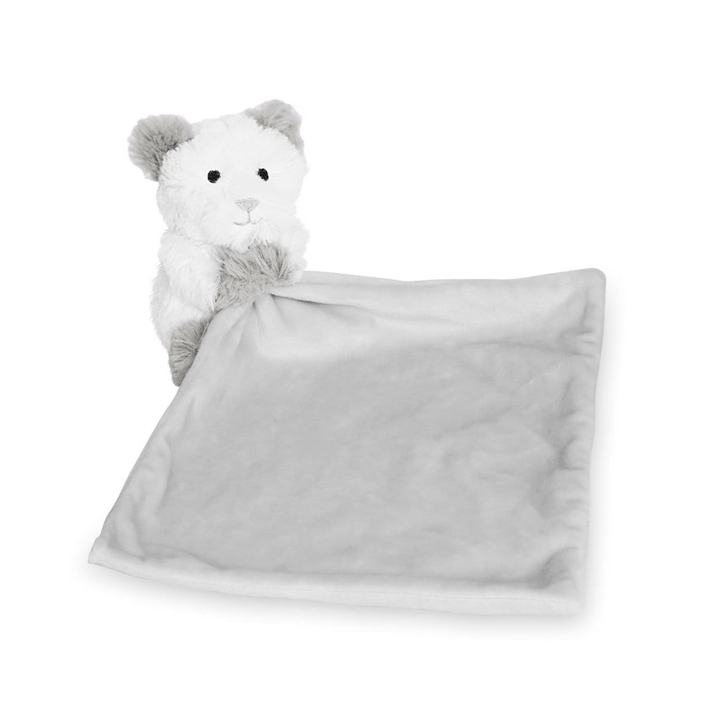 Katie Loxton Accessories One Size Katie Loxton White Grey Teddy Bear Baby Comforter BA0059 izzi-of-baslow