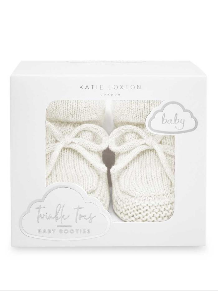Katie Loxton Accessories One Size Katie Loxton White Knitted Baby Booties BA0074 izzi-of-baslow