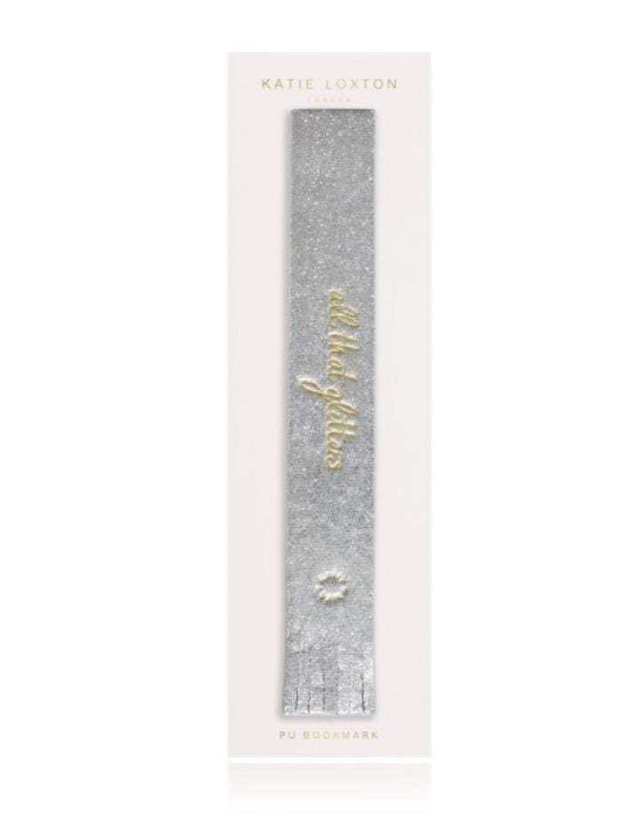 Katie Loxton Gifts One Size Katie Loxton All That Glitters Bookmark Metallic Silver izzi-of-baslow