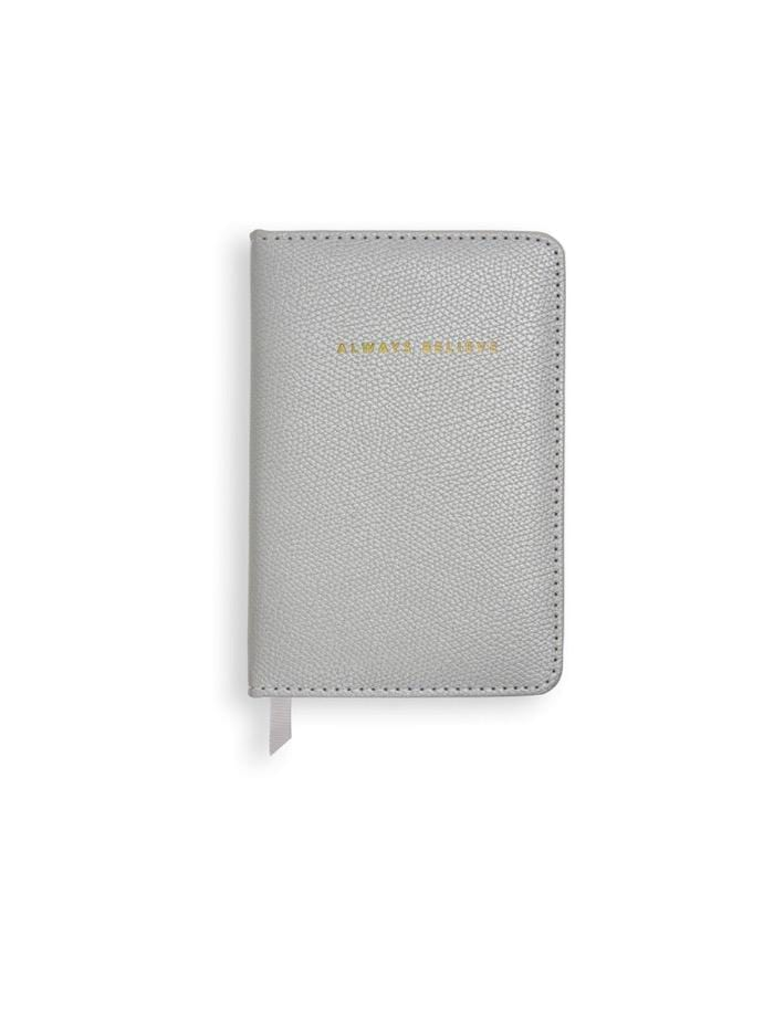Katie Loxton Gifts One Size Katie Loxton 'Always Believe' Mini Notebook Metallic Silver KLST S izzi-of-baslow
