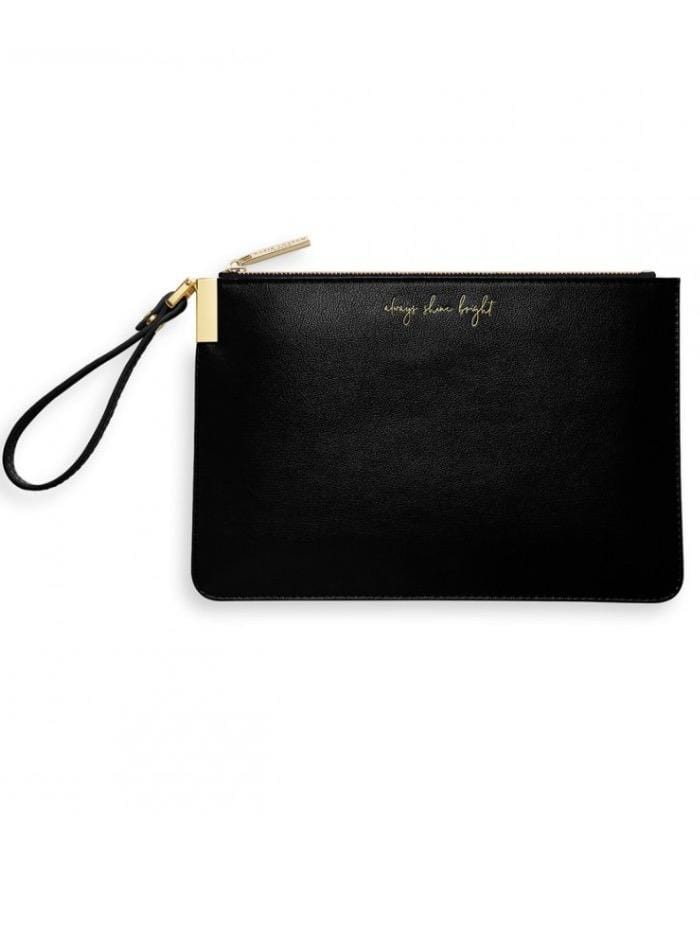 Katie Loxton Gifts One Size Katie Loxton Always Shine Bright Black Secret Message Perfect Pouch KLB S izzi-of-baslow