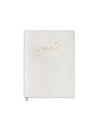 Katie Loxton Gifts One Size Katie Loxton Baby Book Notebook Metallic White BA0005 izzi-of-baslow
