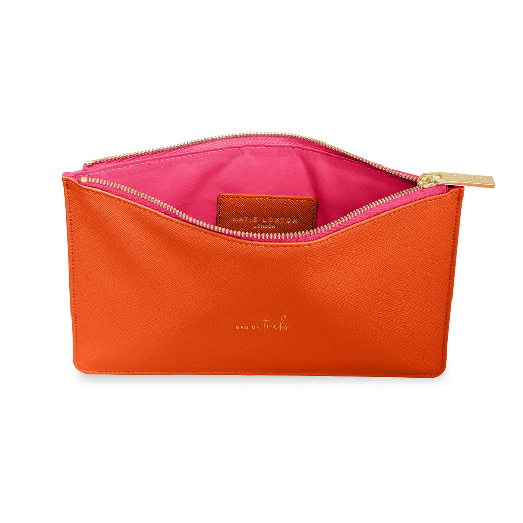 Katie Loxton Gifts One Size Katie Loxton Bag Of Tricks Colour Pop Perfect Pouch in Orange KLB750 izzi-of-baslow