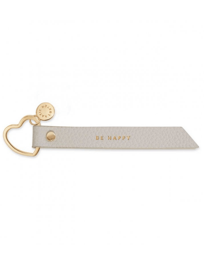 Katie Loxton Gifts One Size Katie Loxton Be Happy Grey Flag Keyring KLB1307 izzi-of-baslow