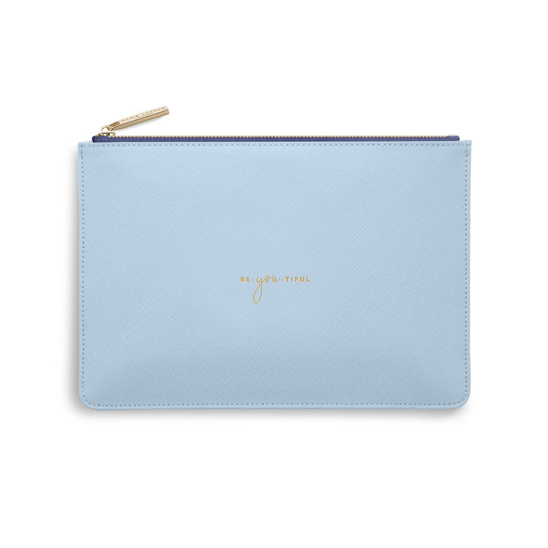 Katie Loxton Gifts One Size Katie Loxton Be You Tiful Colour Pop Perfect Pouch in Sky Blue KLB749 izzi-of-baslow