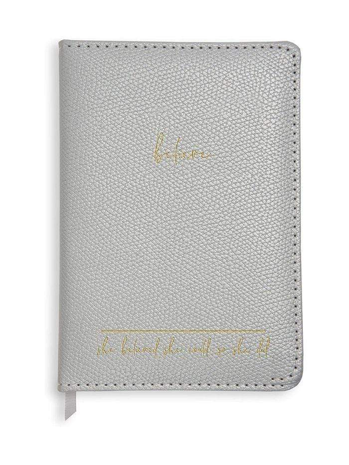 Katie Loxton Gifts One Size Katie Loxton Believe Silver Notebook KLST032 izzi-of-baslow