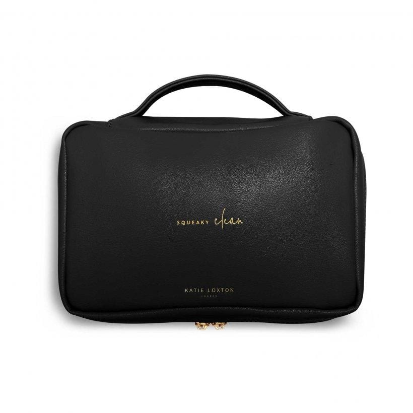Katie Loxton Gifts One Size Katie Loxton Black Squeeky Clean Quick Change Baby Organiser With Changing Mat KLB734 izzi-of-baslow