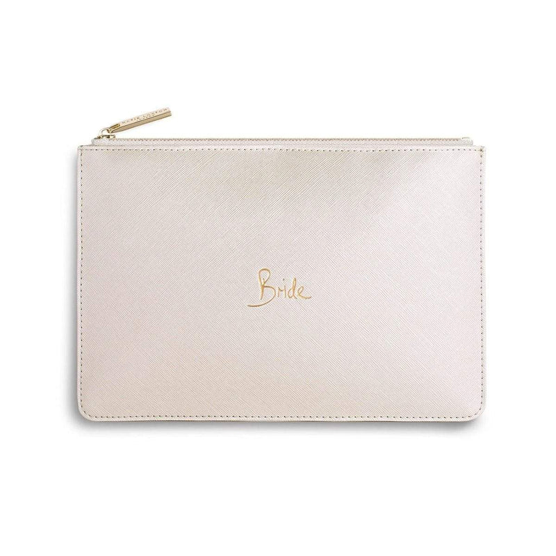 Katie Loxton Gifts One Size Katie Loxton Bride Perfect Pouch in Metallic White KLB212 izzi-of-baslow
