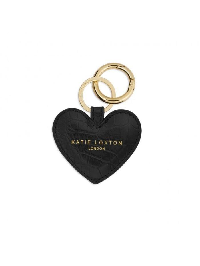 Katie Loxton Gifts One Size Katie Loxton Celine Croc Heart Black Key Ring KLB633 izzi-of-baslow