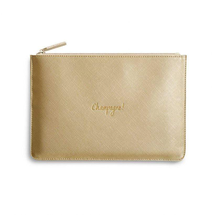 Katie Loxton Gifts One Size Katie Loxton Champagne Perfect Pouch in Gold KLB357 izzi-of-baslow
