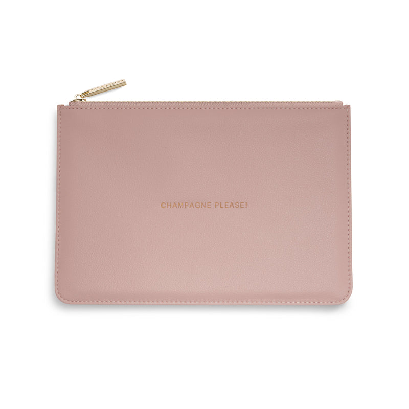 Katie Loxton Gifts One Size Katie Loxton Champagne Please Perfect Pouch Pink KLB742 izzi-of-baslow