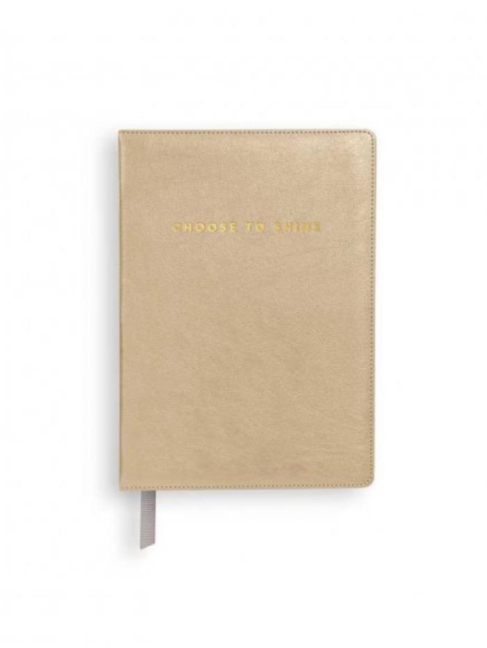 Katie Loxton Gifts One Size Katie Loxton 'Choose To Shine' Mini Notebook Metallic Gold KLST072 izzi-of-baslow