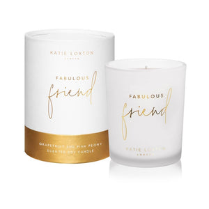 Katie Loxton Gifts One Size Katie Loxton Fabulous Friend Candle Grapefruit and Pink Peony KLC129 izzi-of-baslow