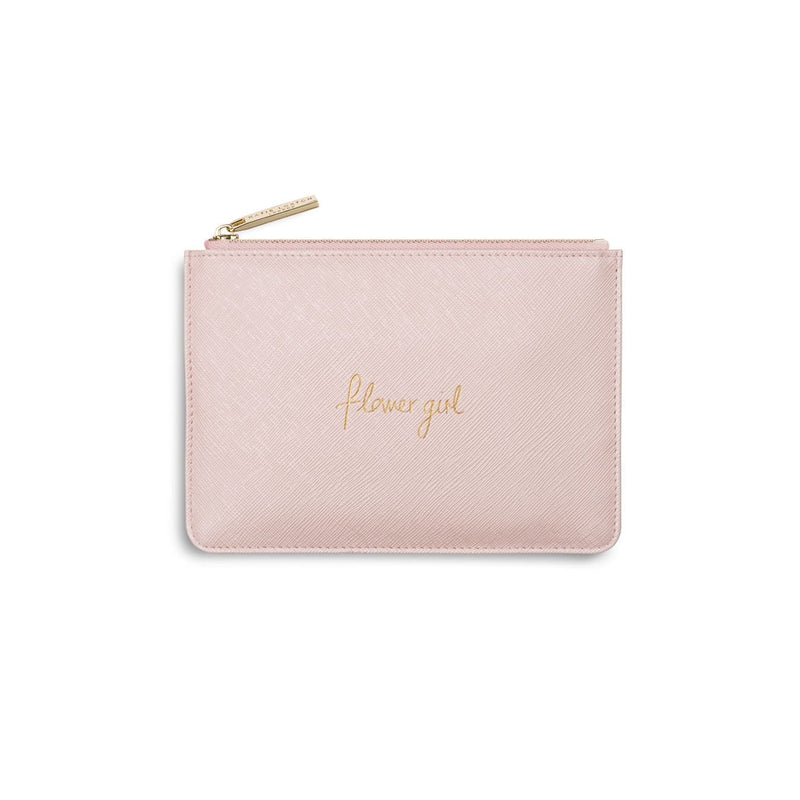 Katie Loxton Gifts One Size Katie Loxton Flower Girl Mini Perfect Pouch in Metallic Pink KLB244 izzi-of-baslow