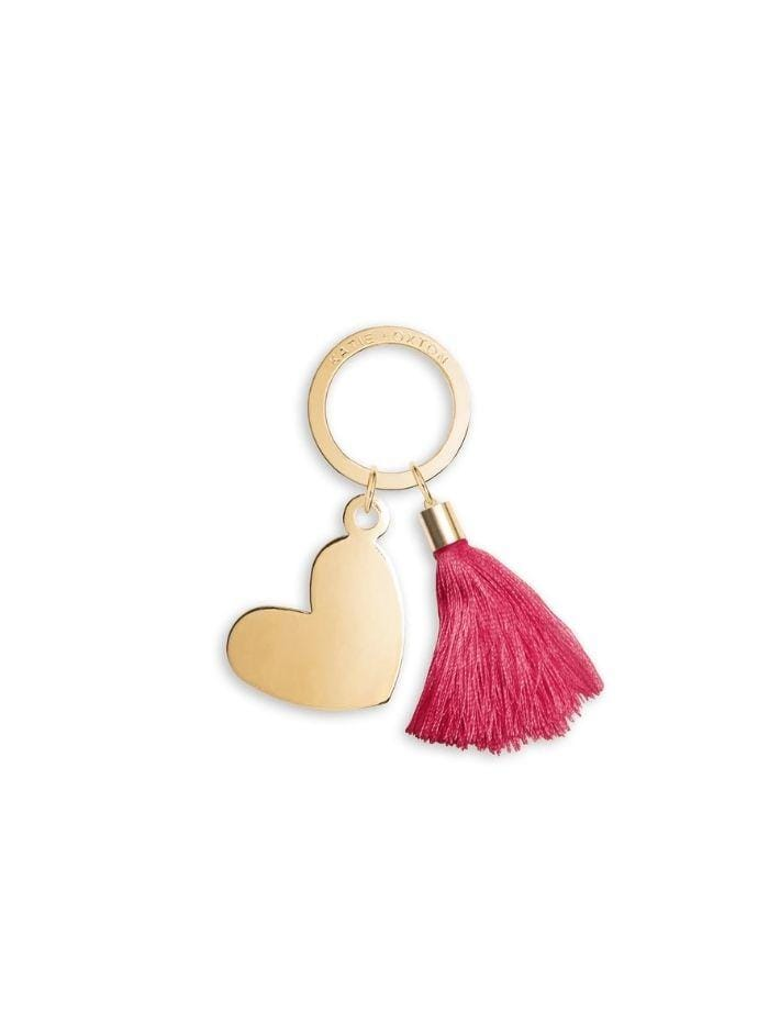 Katie Loxton Gifts One Size Katie Loxton Golden Treasure Heart Tassel Key Ring KLB580 izzi-of-baslow