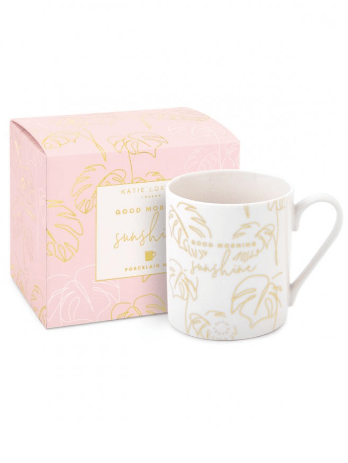 Katie Loxton Gifts One Size Katie Loxton Good Morning Sunshine Porcelain Heart Mug KLCW070 izzi-of-baslow