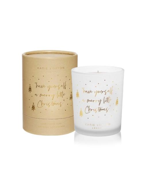 Katie Loxton Gifts One Size Katie Loxton Have Yourself A Merry Little Christmas Candle Christmas Pine KLC125 izzi-of-baslow