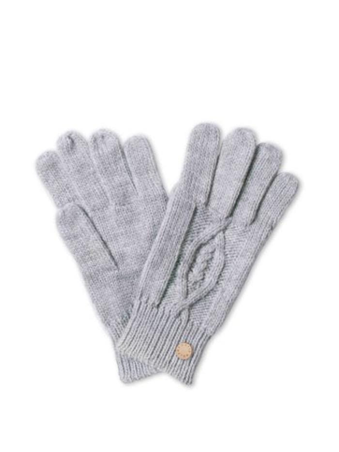 Katie Loxton Gifts One Size Katie Loxton Knitted Cable Grey Gloves izzi-of-baslow