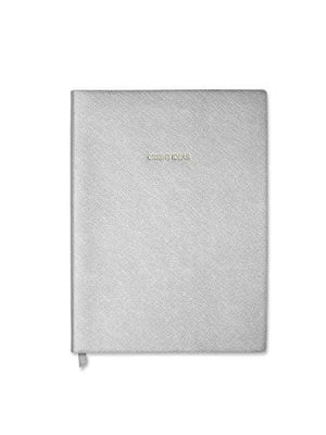 Katie Loxton Gifts One Size Katie Loxton Large Bright Ideas Notebook Metallic Silver KLB168 izzi-of-baslow