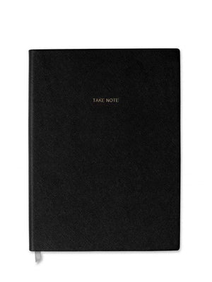 Katie Loxton Gifts One Size Katie Loxton Large Notebook Take Note Black KLB169 izzi-of-baslow