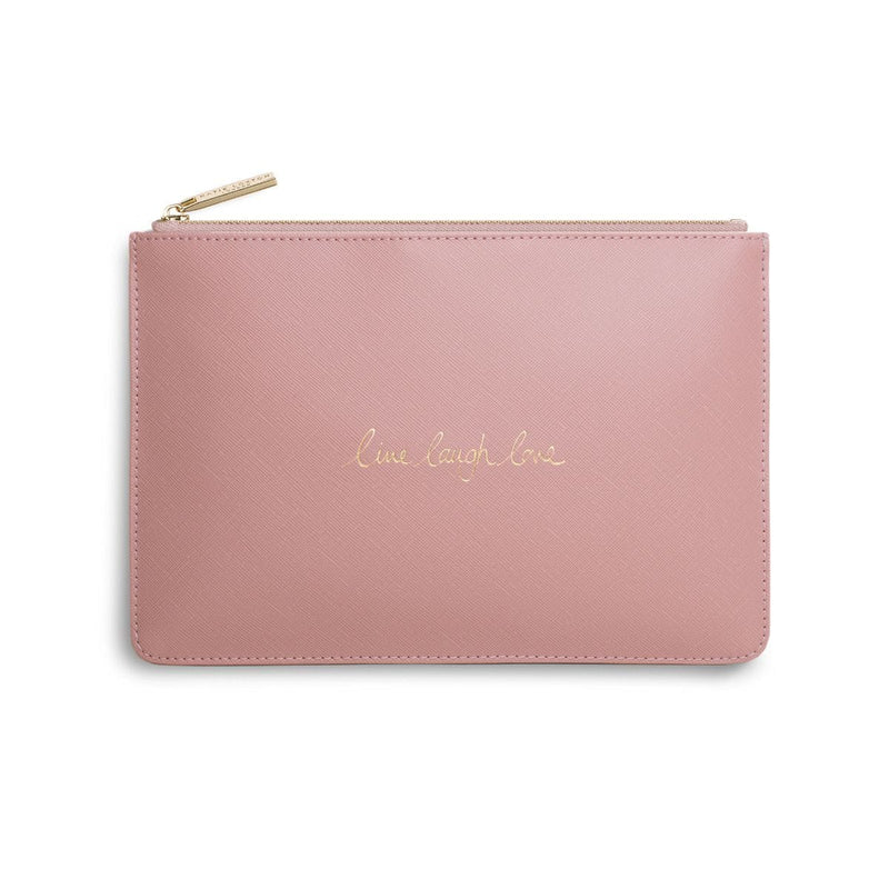 Katie Loxton Gifts One Size Katie Loxton Live Laugh Love Perfect Pouch in Pink KLB201 izzi-of-baslow