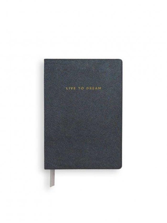 Katie Loxton Gifts One Size Katie Loxton 'Live To Dream' Metallic Navy Mini Notebook KLST071 izzi-of-baslow