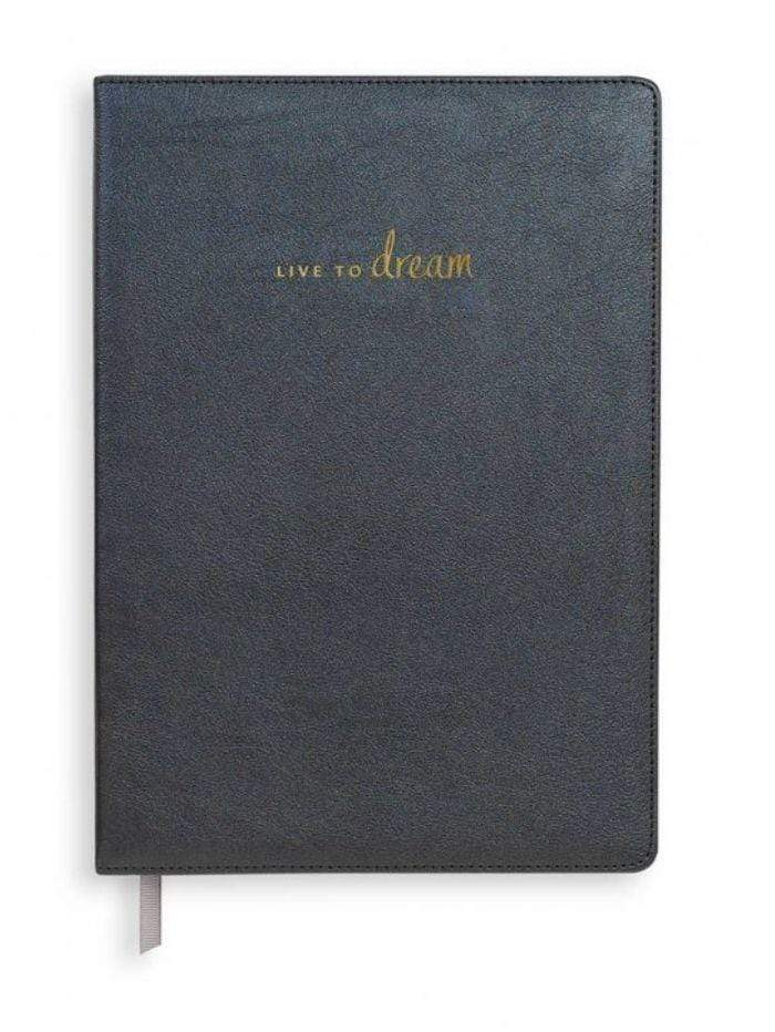 Katie Loxton Gifts One Size Katie Loxton 'Live To Dream' Metallic Navy Notebook KLST068 izzi-of-baslow
