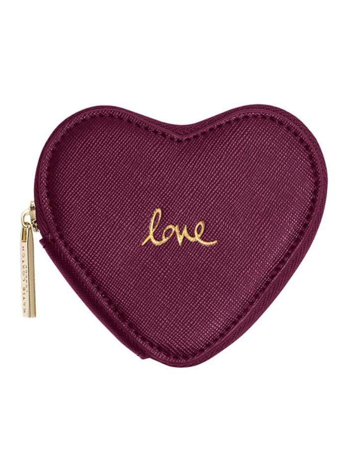 Katie Loxton Gifts One Size Katie Loxton Love Heart Coin Purse in Burgundy KLB izzi-of-baslow