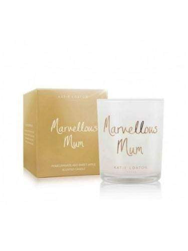Katie Loxton Gifts One Size Katie Loxton Marvellous Mum Candle Pomegranate and Sweet Apple KLC063 izzi-of-baslow